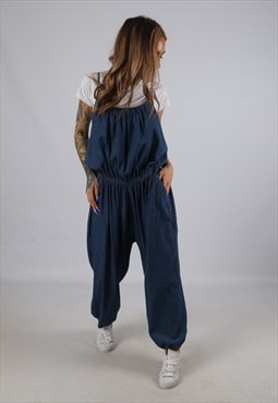 Vintage Denim Jumpsuit Wide Leg UK 20 3XL  (B1Q)