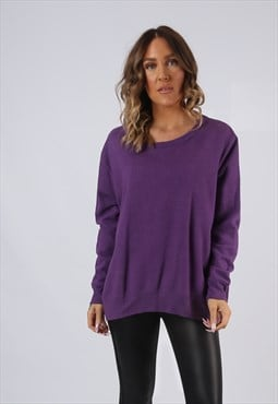 Sweatshirt Jumper Oversized PLAIN Coloured UK 16 (KI5D)