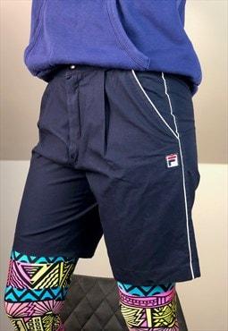 FILA Italy blue Tennis shorts Sport 90s Vintage