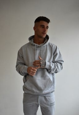 Grey Mini Description Hoodie
