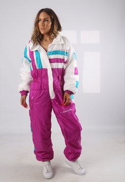 Vintage Full Ski Suit Snow Sports 90's UK 14 - 16  (HBH)