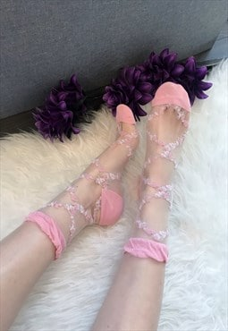 Pink Sheer Ankle Socks