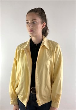 Womens Vintage Burberrys jacket yellow harrington coat