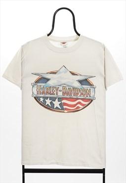Harley Davidson Vintage White Budkes TShirt