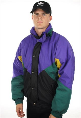 VINTAGE 90S PADDED COLOUR SKI COAT JACKET