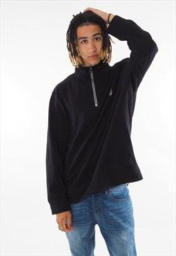 Vintage Nautica 1/4 Zip Sweatshirt Black