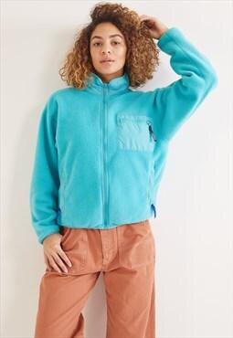 Vintage Patagonia Fleece Zip-Up Sweatshirt  Blue