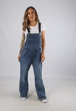 Vintage Denim Dungarees BICH REWORKED Flared 12 - 14 (9AM)