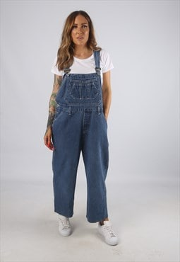 Vintage Denim Dungarees NEVADA Wide Leg UK 16 XL (H2J)