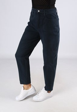 High Waisted Tapered Leg Stretch Jeans Trousers UK 12 (D2EJ)