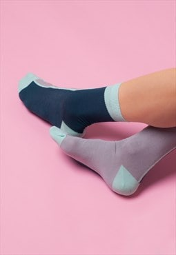 Contrast ankle socks in legion blue