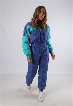 Vintage ETIREL Full Ski Suit Snow Sports 90's UK 10 (H4G)