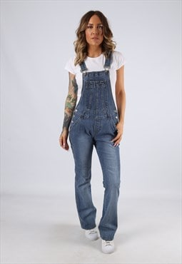 Dungarees Denim SQUEEZE Bootcut Flared Legs UK 8 (C94H)