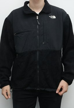 The North Face - Black Embroidered Denali Fleece Jacket - XL