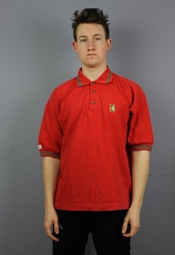 Vintage Nike Challenge court Polo Shirt in Red with logos