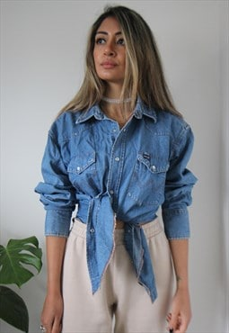Wrangler Mid-blue denim shirt