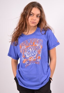 Vintage Champion T-Shirt Top Blue