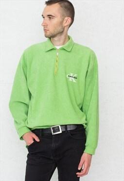 90s Vintage Green CK CALVIN KLEIN Jumper Sweatshirt