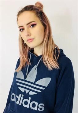 Vintage Adidas Trefoil Blue Hoodie