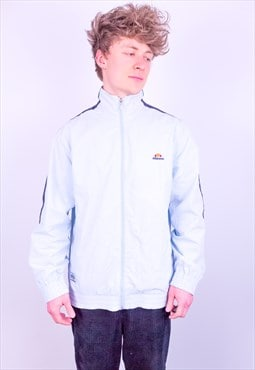 Vintage Ellesse Striped Jacket in Baby Blue