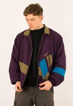 Vintage 90s Puma Navy Colourblock Windbreak Jacket