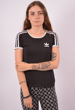 Vintage Adidas T-Shirt Top Black
