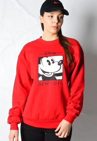 VINTAGE 90S RED MICKEY DISNEY SWEATSHIRT