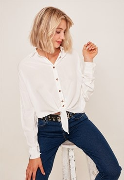 Front bow shirt - cream