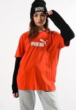 Vintage Red Puma Tee Shirt