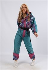 Vintage IL DRAGO Full Ski Suit Snow PETITE UK 8 XS (LVC)