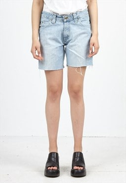 Vintage Light Blue LEE Denim Midi Shorts