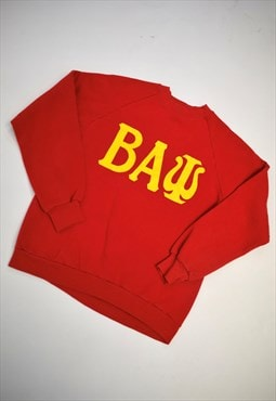 "Vintage 90s Jerzees Red ""BAW"" Sweatshirt"