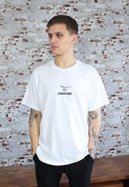 Carnivore graphic print White T-shirt