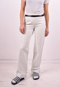 Gianni Versace Womens Vintage Trousers W26 L32 White 90's