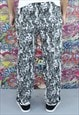 VINTAGE 90S PATTERNED FESTIVAL TROUSERS. FUNKY. UNISEX.