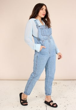 Vintage 90s Dungarees in Light Wash