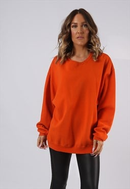 Sweatshirt Jumper Oversized PLAIN Coloured UK 18 (HI5B)