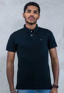 TOMMY HILFIGER Vintage Polo Shirt Black A778