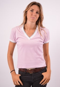 Vintage Fred Perry T-Shirt Top Pink