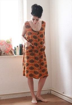 Vintage African Style Print Dress