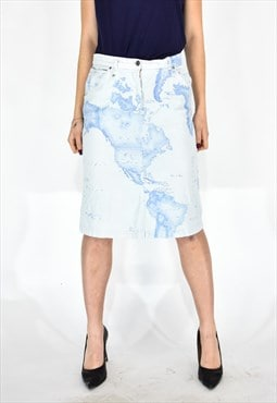 1 classe alviero martini elegant light blue skirt