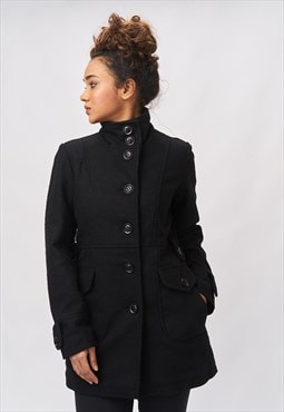 'Liliana' Midi Wool Coat - Shadow