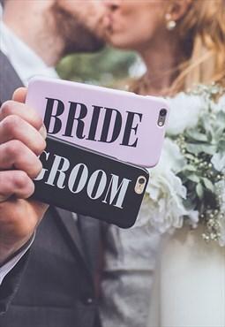 Pink and black wedding day Bride iPhone & Samsung case