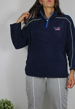 Vintage Champion Fleece Jumper w Logo Front