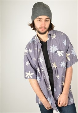 Vintage Hawaiian Patterned Festival Shirt