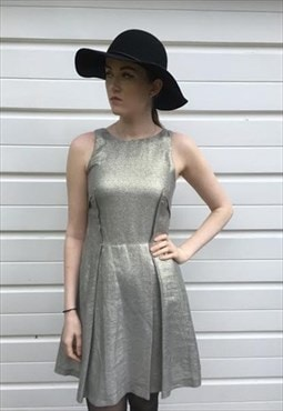 Womens Coast dress silver gold sleeveless sparkly dress