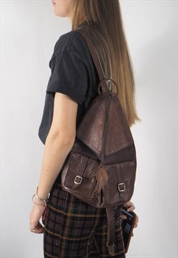 Vintage Brown Maroc Leather Backpack