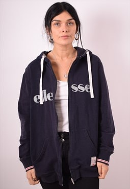 Ellesse Womens Vintage Hoodie Sweater XXL Navy Blue 90s