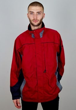 COLUMBIA Vintage 90s Windbreaker Jacket Red