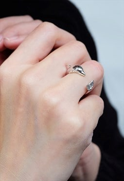 Dolphin Ring Women Sterling Silver Ring